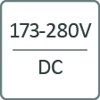 symbol spannung 173-280V DC