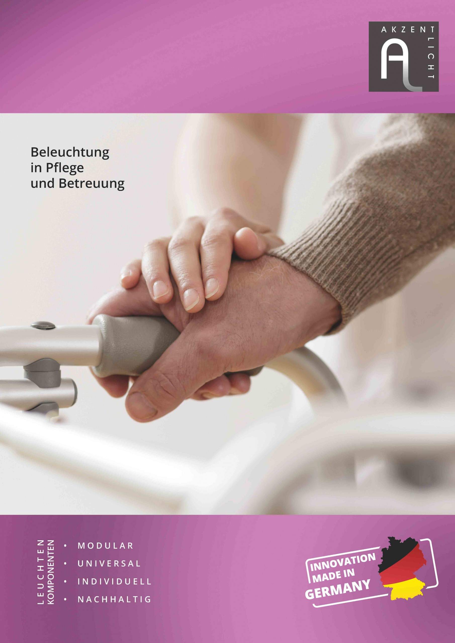 Theme booklet lighting in nursing and care